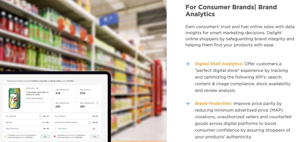 CheckoutSmart digital shelf provider DataWeave